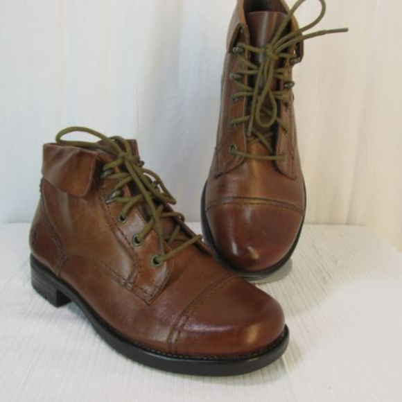 b6536a53 Earth Spirit Shoes - Earth Spirit Cuff Ankle Boots 6 Brown Leather Boho